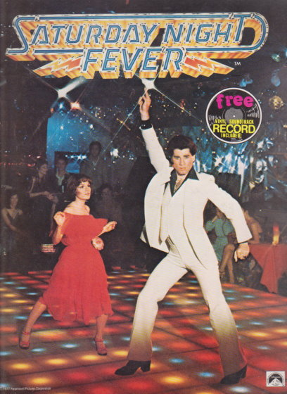 Image for Saturday Night Fever :  Original Souvenir Movie Program with Vinyl Soundtrack Record Included