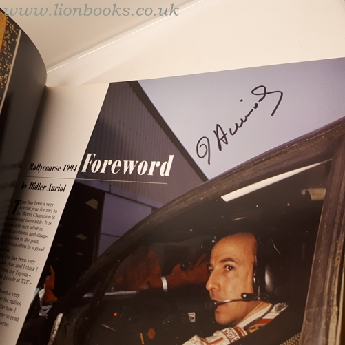 DAVID WILLIAMS PH. D. - Rallycourse 1994-95 - Signed by Didier Aurio