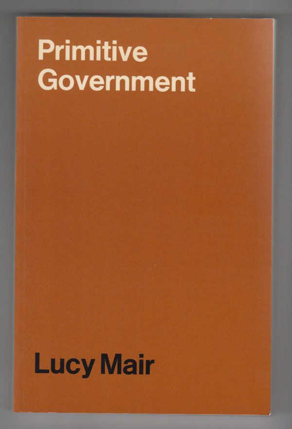 Image for Primitive Government  A Study of Traditional Political Systems in Eastern Africa