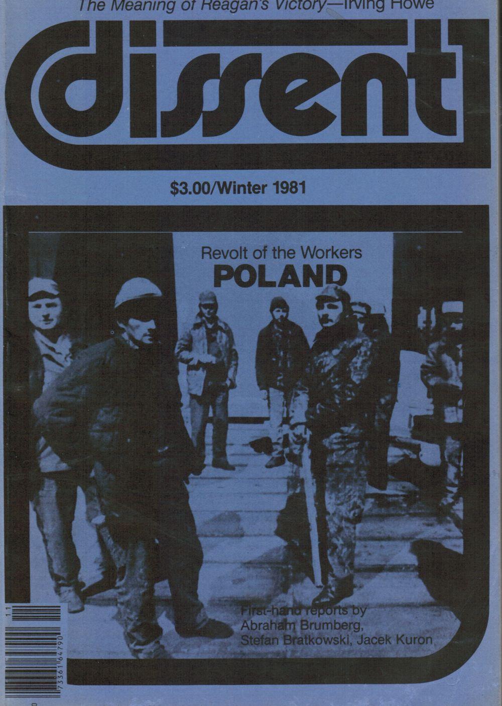 Image for DISSENT: Winter 1991 Poland, Afghanistan, Povert, Herbert Marcuse, Solzhenitsyn