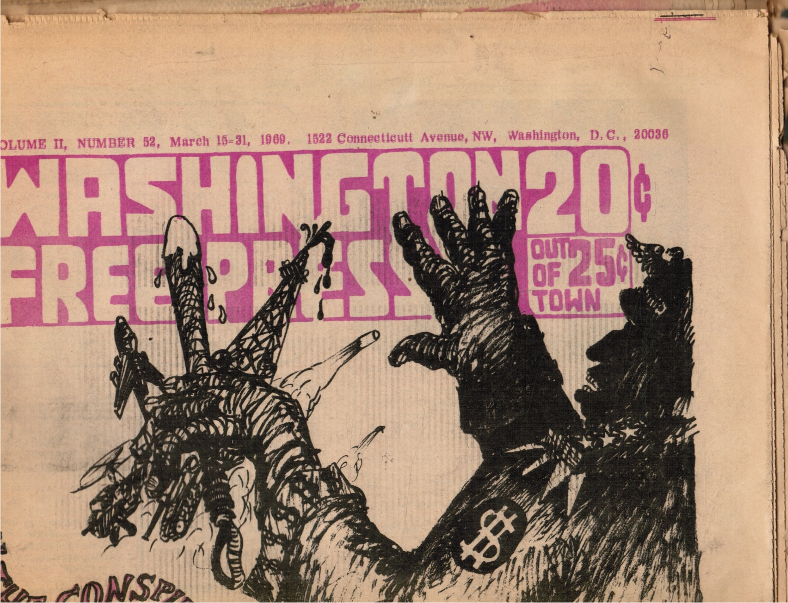 Image for 1969 - Washington Free Press : March 15-31, 1969