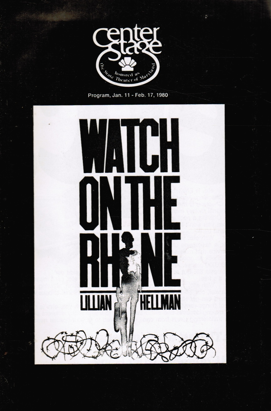Image for Watch on the Rhine: Playbill Lillian Hellman's Play
