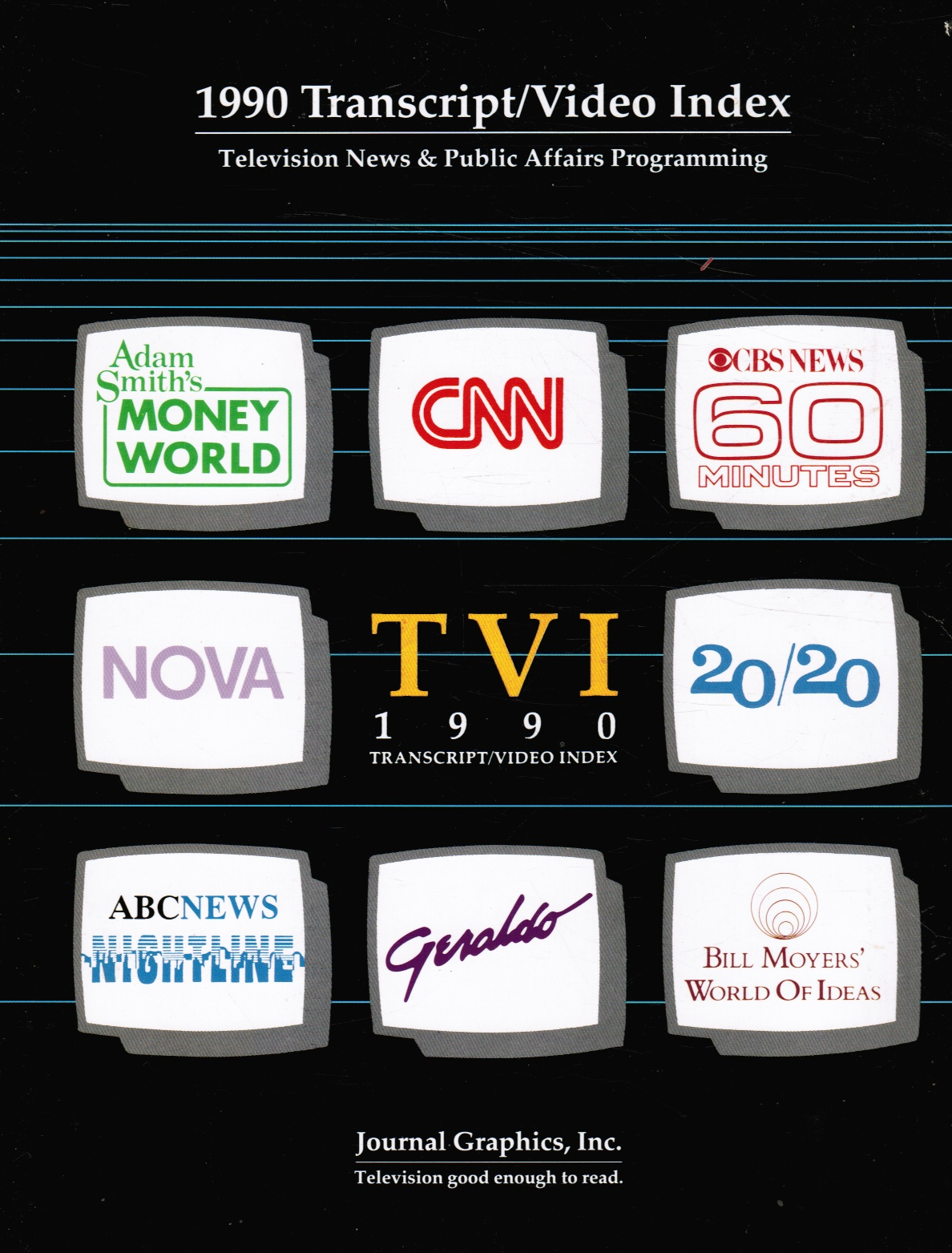 Image for 1990 Transcript/video Index: Television News and Public Affairs Programming