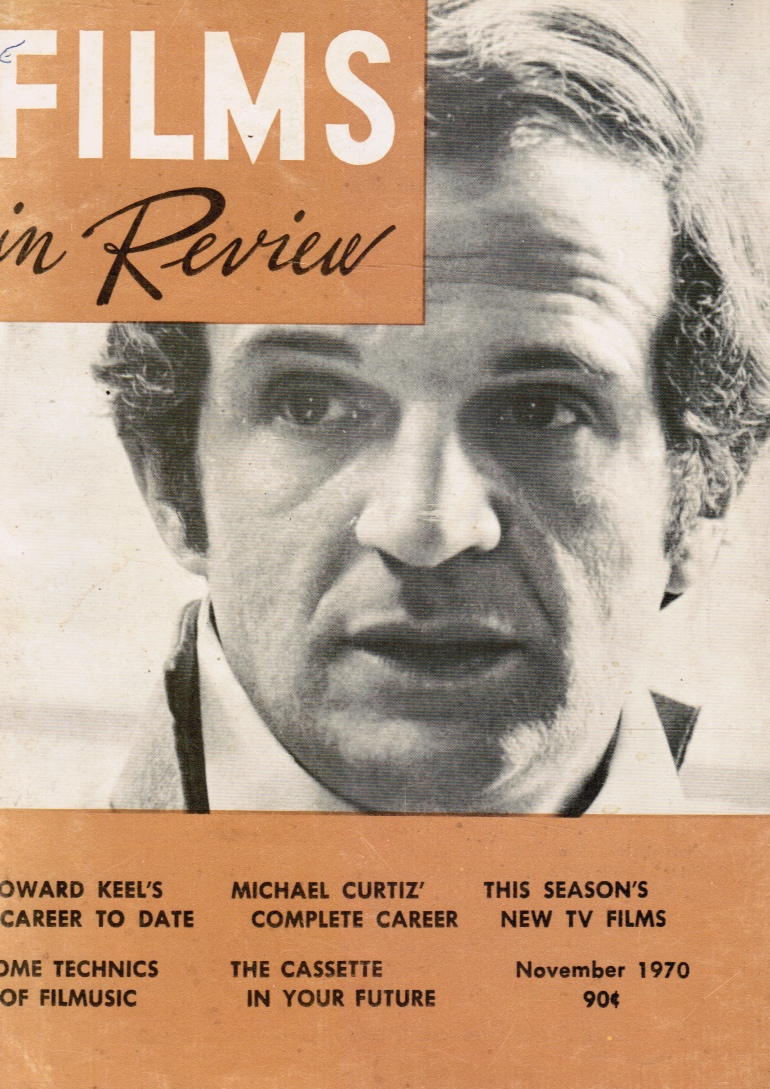 Image for Films in Review: November 1970 Francoise Truffant (cover)