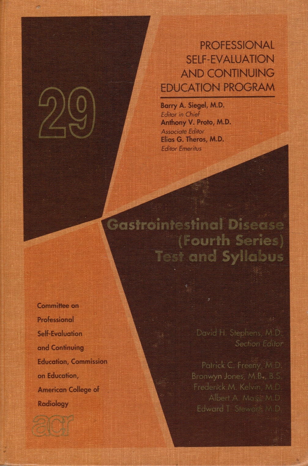 Image for Gastrointestinal Disease (Fourth Series) : Test and Syllabus (Professional Self-Evaluation and Continuing Education Program)