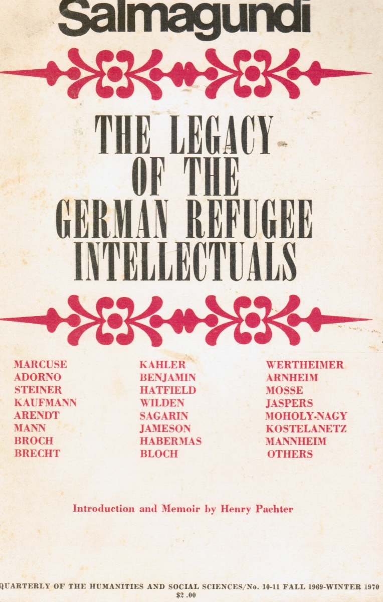 Image for Salmagundi Special Issue: the Legacy of the German Refugee Intellectuals