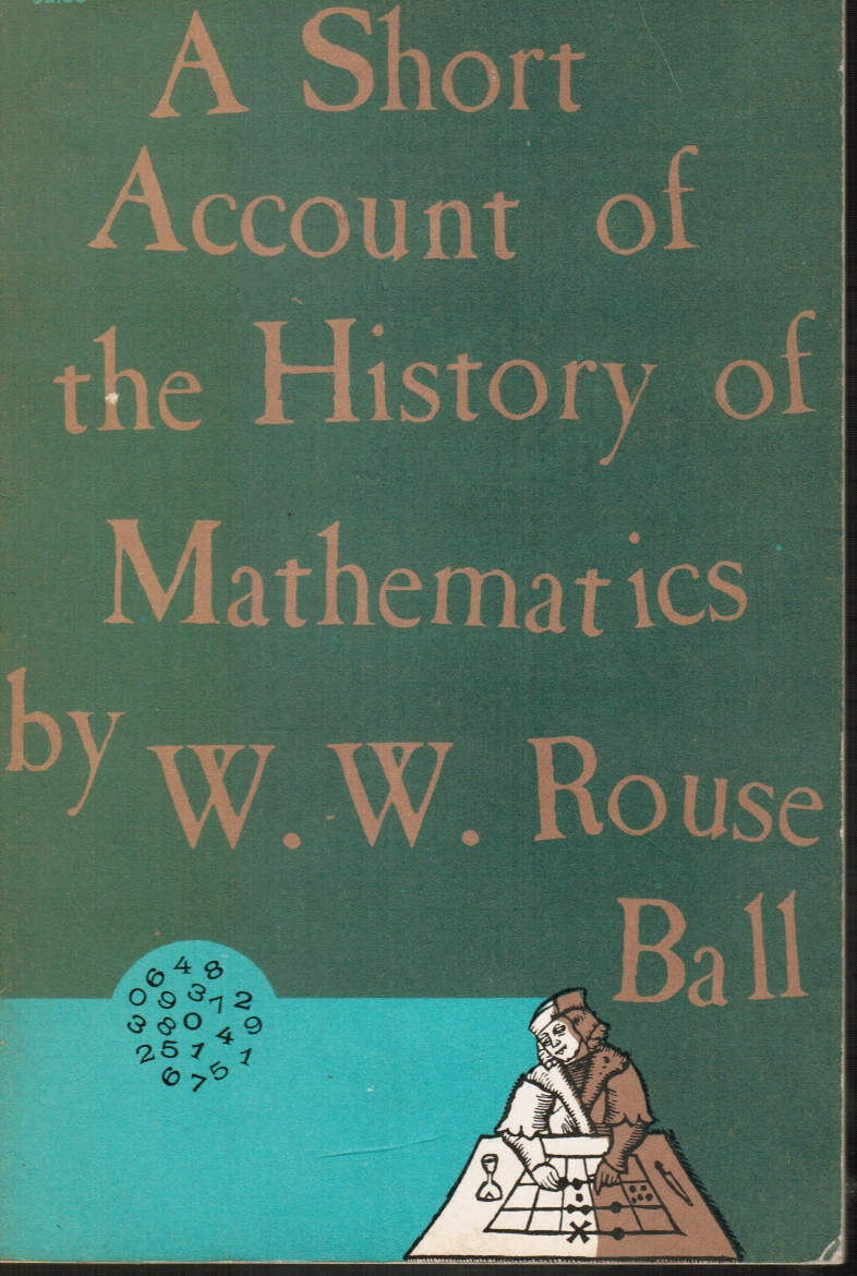 Image for A Short Account of the History of Mathematics