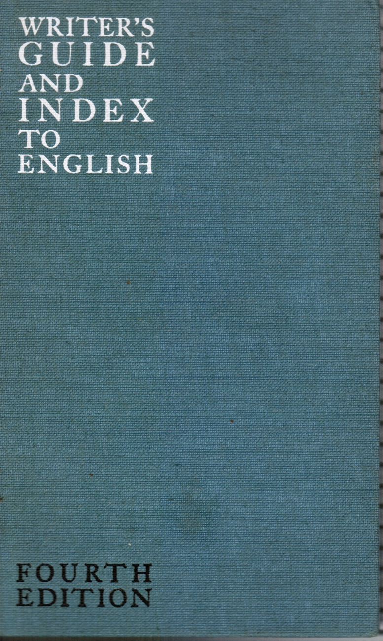 Image for Writers Guide and Index to English Instructor's Manual Included