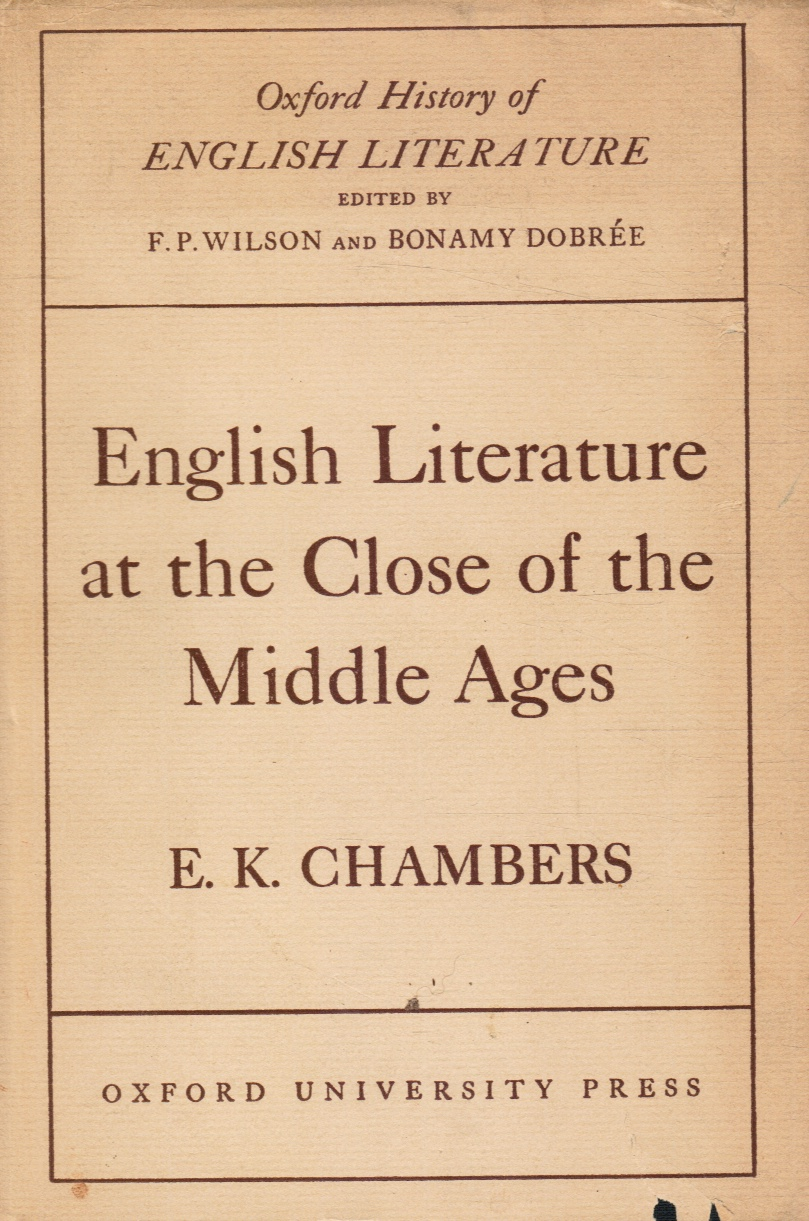 Image for English Literature at the Close of the Middle Ages