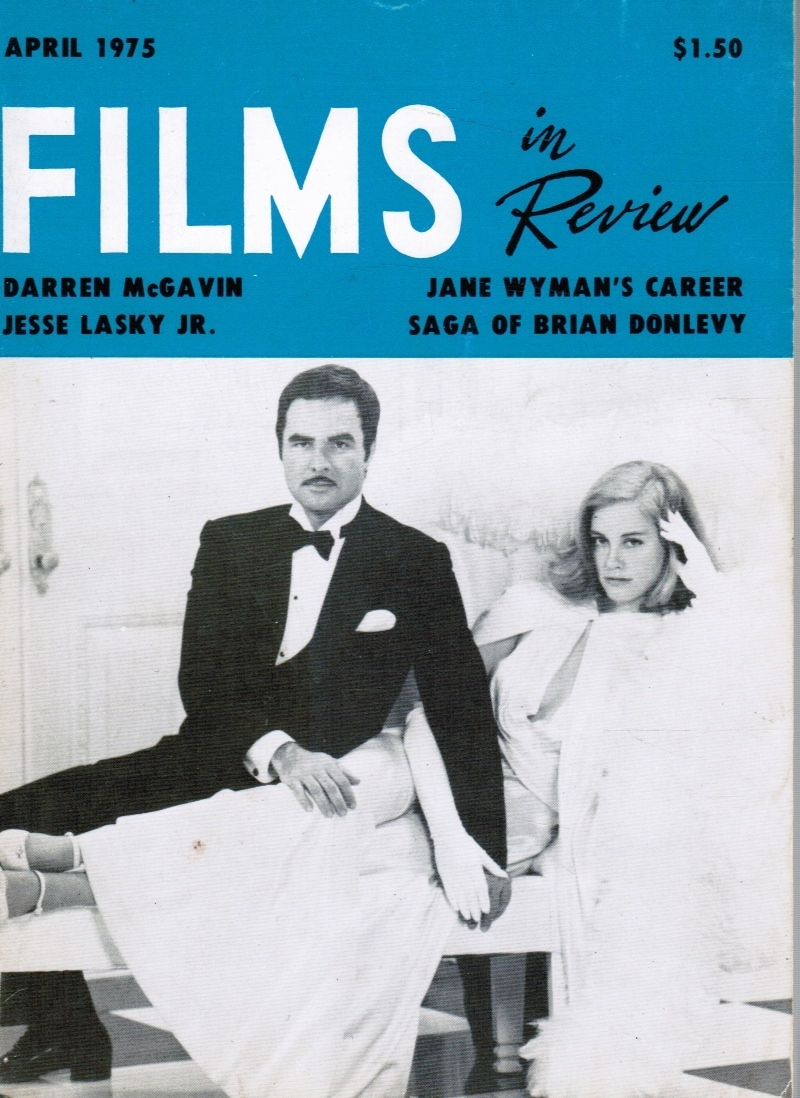 Image for Films in Review April 1975 Burt Reynolds, Cybil Shepherd (Cover)