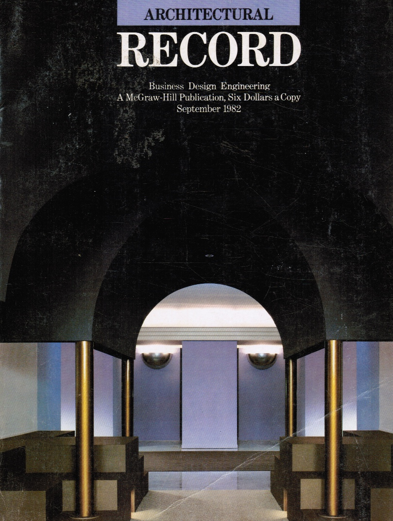 Image for Architectural Record Magazine - September 1982 : Business Design Engineering (Cover)