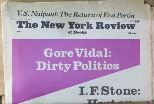 Image for The New York Review of Books -Volume XIX, Number 2,  August 10, 1972 Gore Vidal, I. F. Stone, Charles Rycroft, Paul Goodman (Cover)