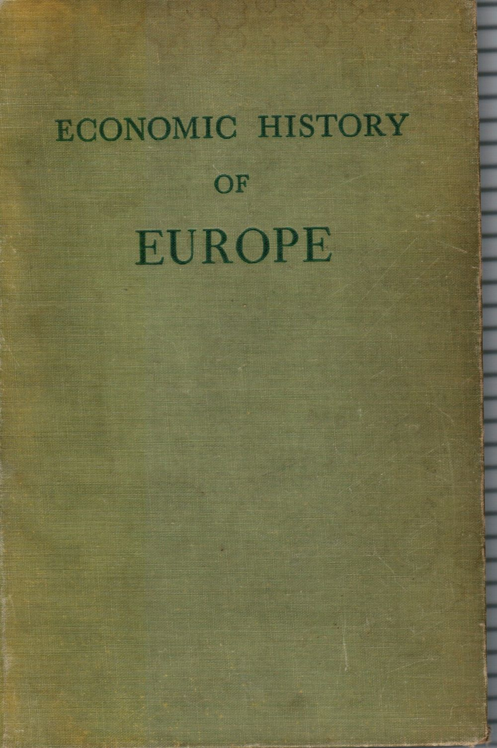 Image for Economic History of Europe