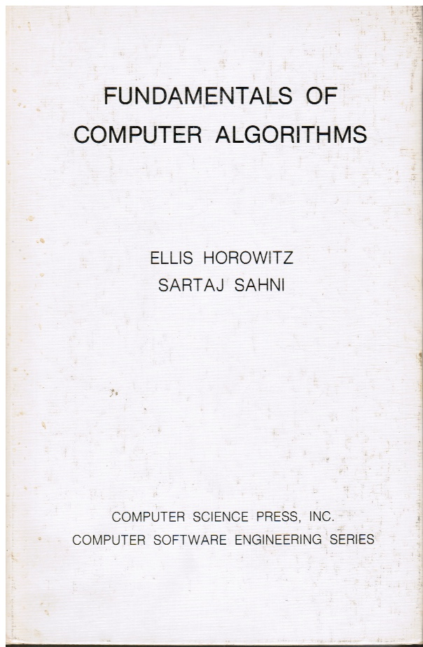 Image for Fundamentals of Computer Algorithms (Autographed)