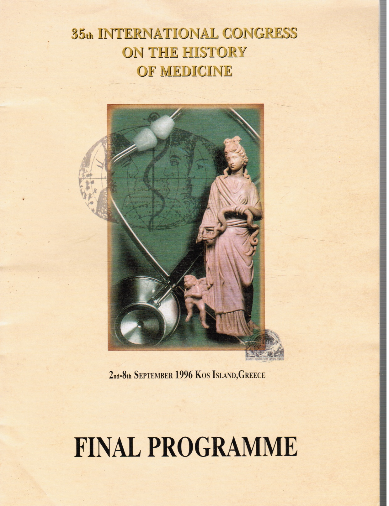 Image for Final Programme: 35th International Congress on the History of Medicine: