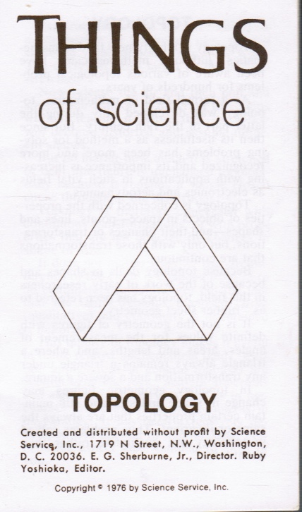 Image for Things of Science: Topology