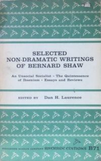 Image for Selected Non-Dramatic Writings of Bernard Shaw