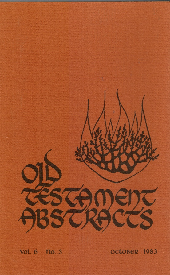 Image for Old Testament Abstracts: Vol 6, No 3 October 1983