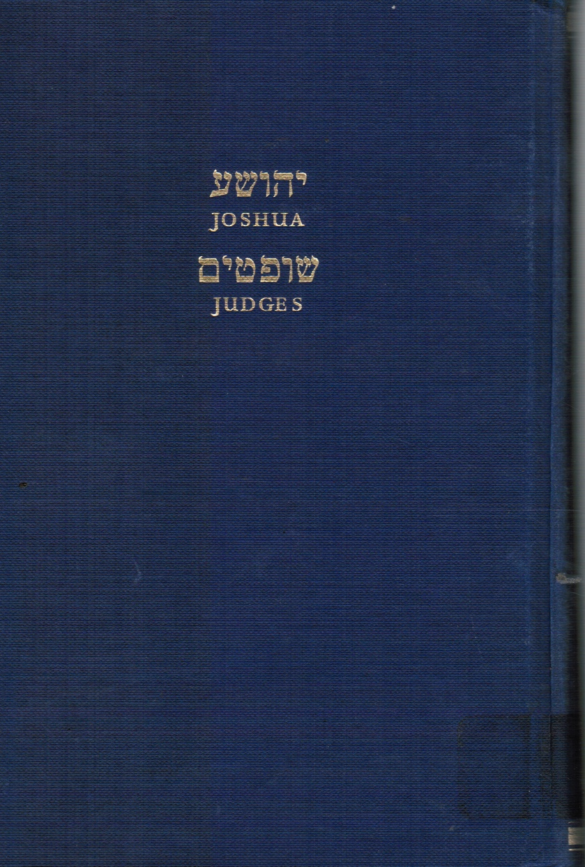 Image for Joshua and Judges: Hebrew Text and English Translation, with an Introduction and Commentary