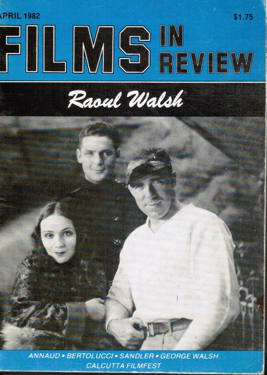 Image for FILMS in REVIEW: April 1982 Raoul Walsh, Cover