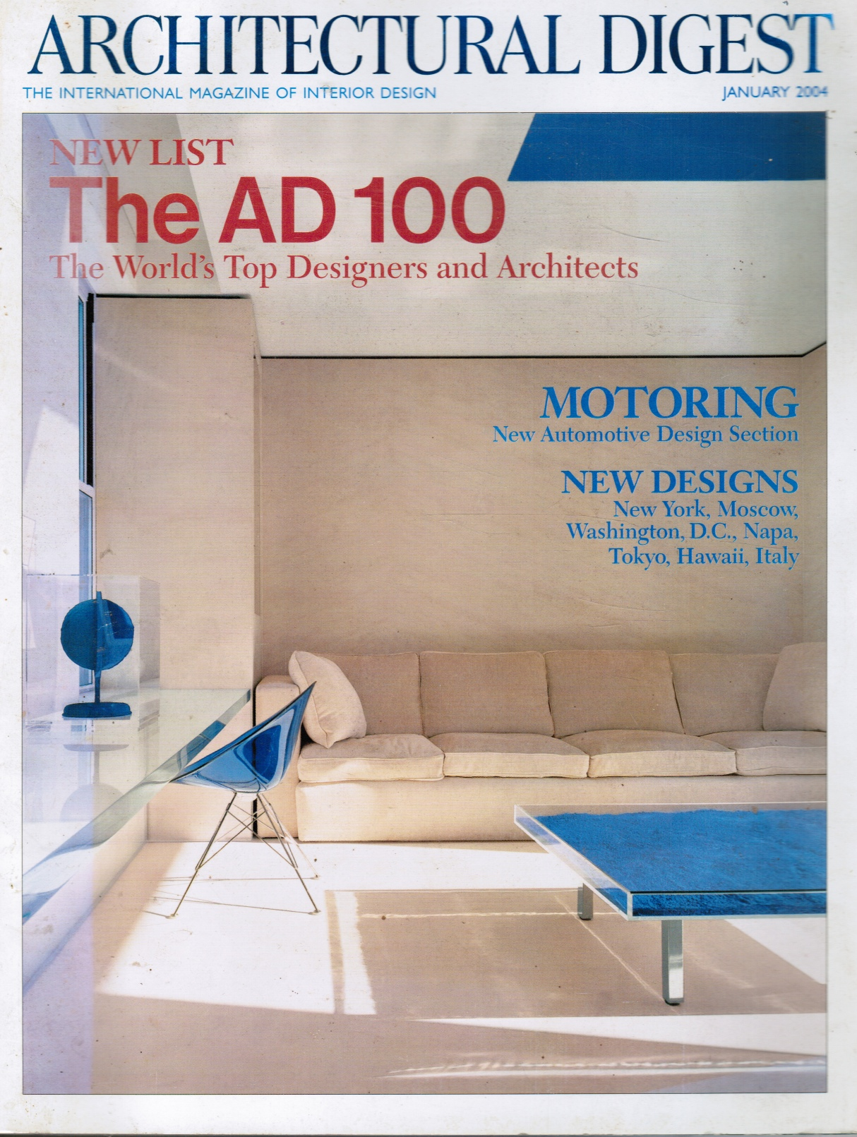 Image for Architectural Digest : January 2004 The World's Top Designers and Architects