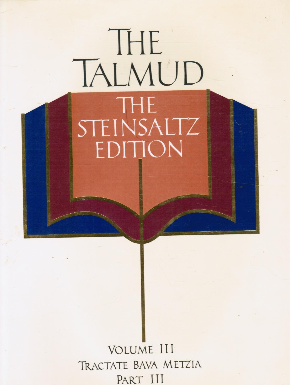 Image for The Talmud: Tractate Bava Metzia, Part 3, the Steinsaltz Editon
