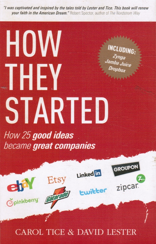 Image for How They Started: How 25 Good Ideas Became Great Companies