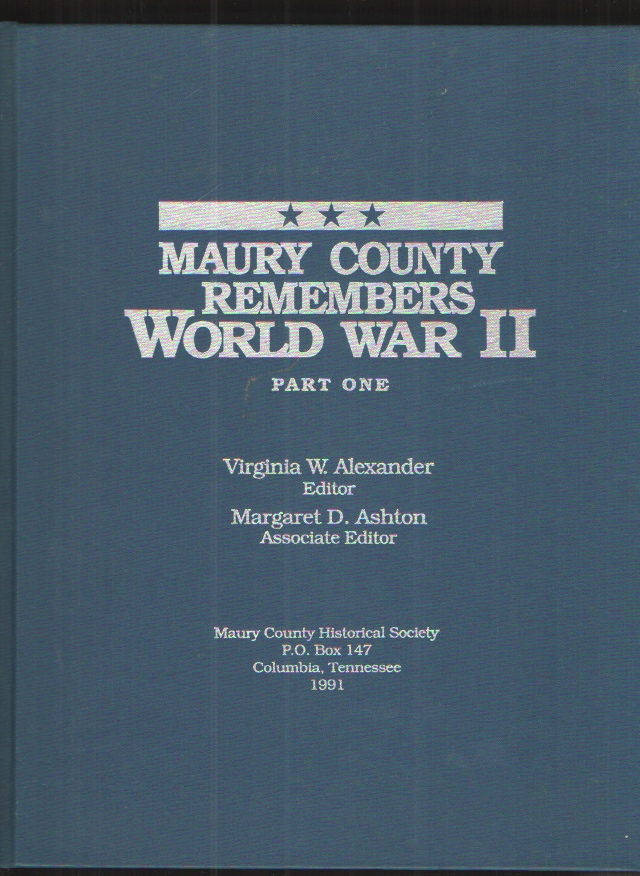 Image for Maury County Remembers World War II, Part One