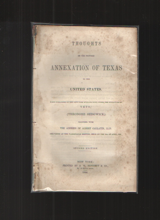 Image for Thoughts on the Proposed Annexation of Texas to the United States