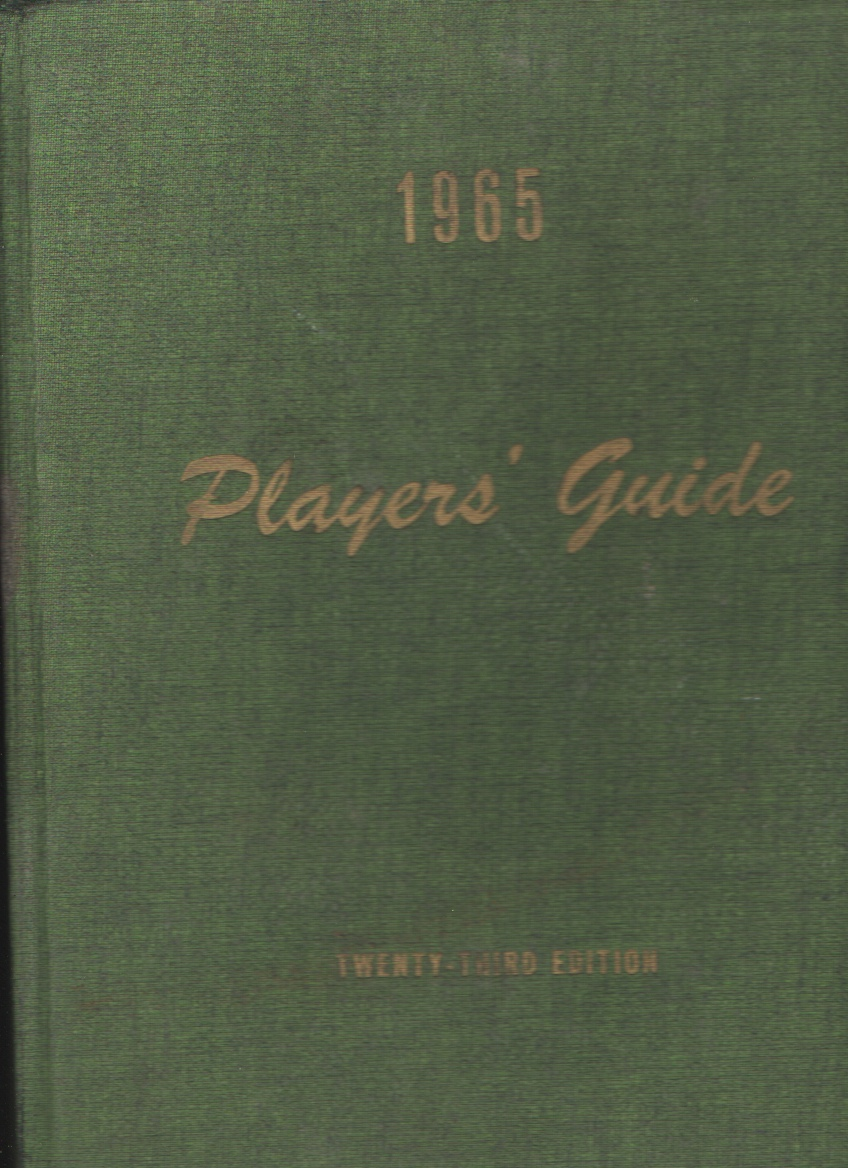 Image for Players' Guide, 1965  The Annual Pictorial Directory for Stage, Screen, Radio and Television