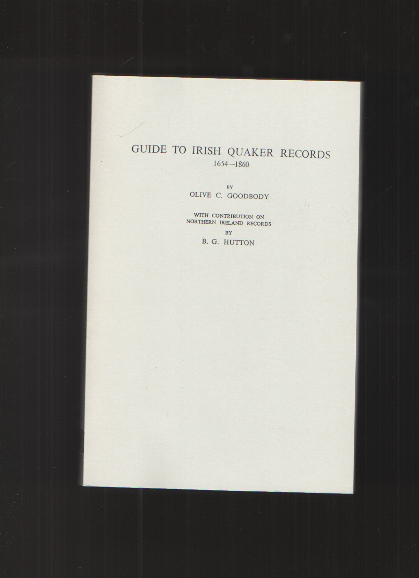 Image for Guide to Irish Quaker Records, 1654-1860 With Contribution on Northern Ireland Records by B. G. Hutton