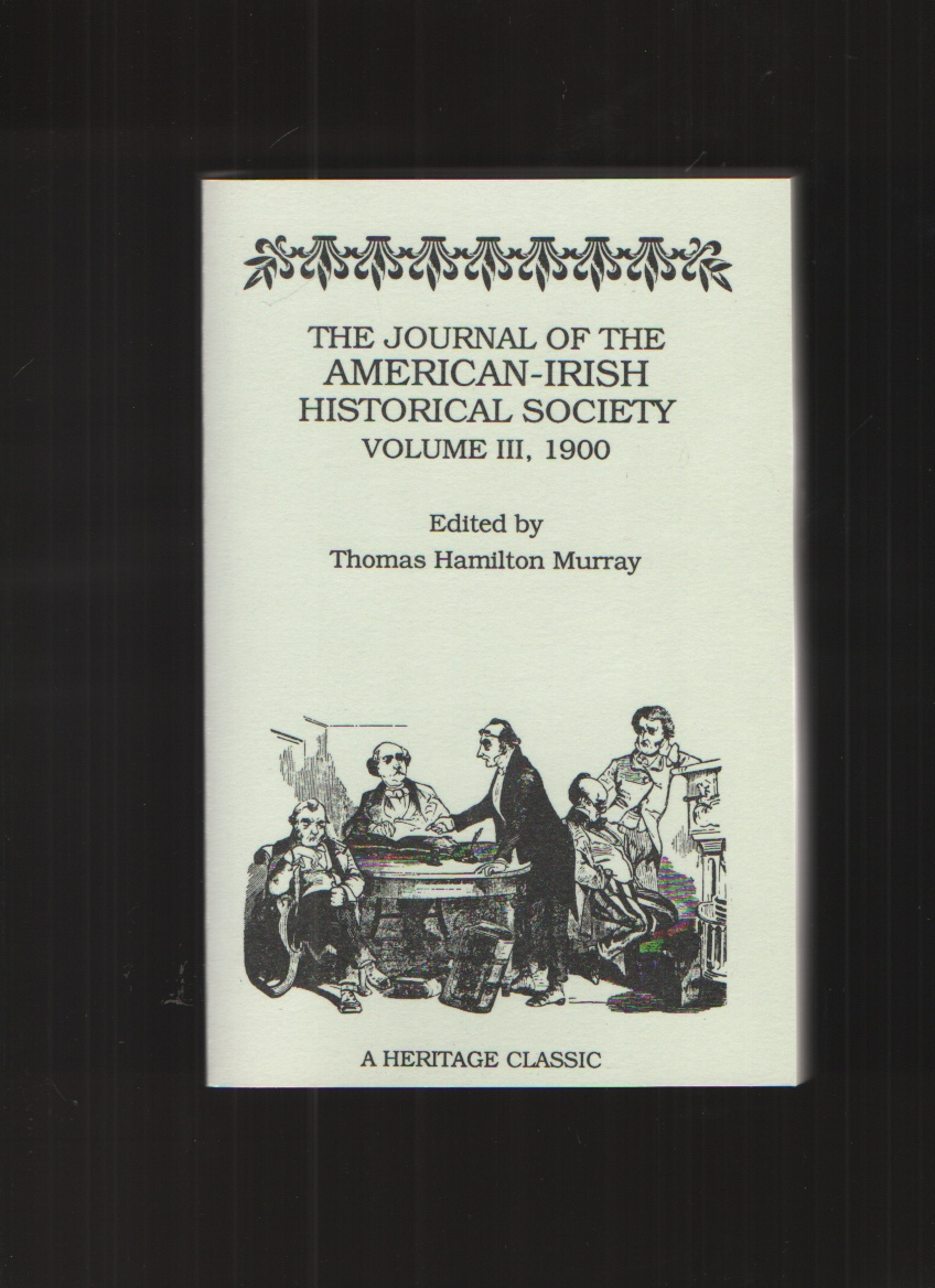 Image for The Journal of the American-Irish Historical Society, 1900