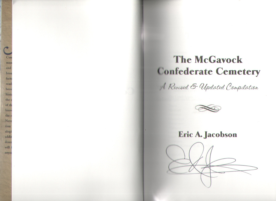 """Image for The McGavock Confederate Cemetery """"A Revised and Updated Compilation"""""""