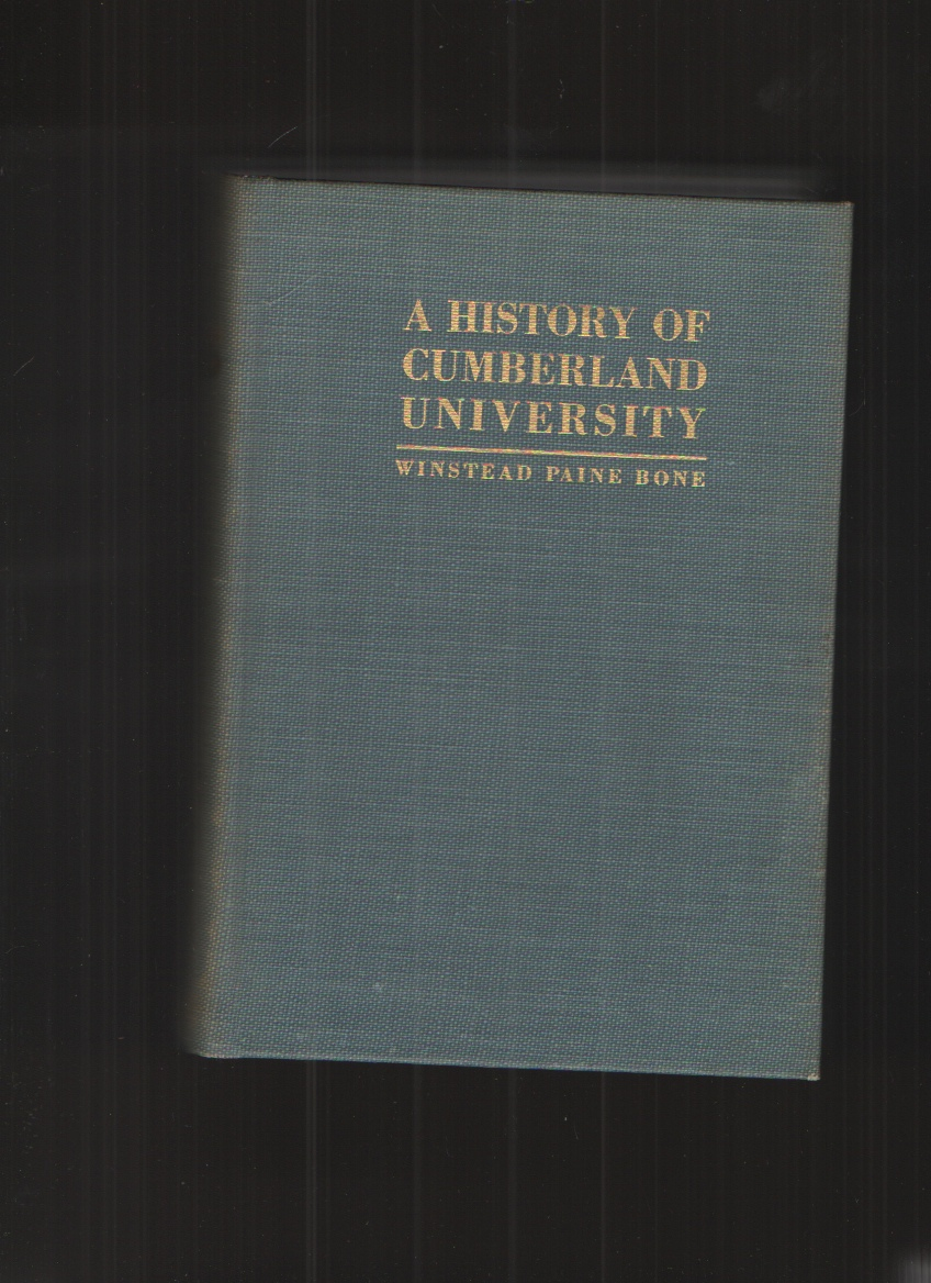 Image for A History of Cumberland University