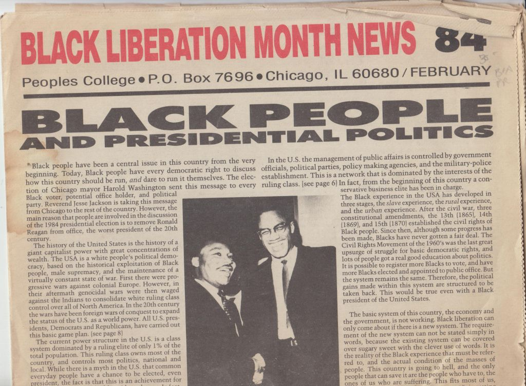 Image for Black Liberation Month News, February '84
