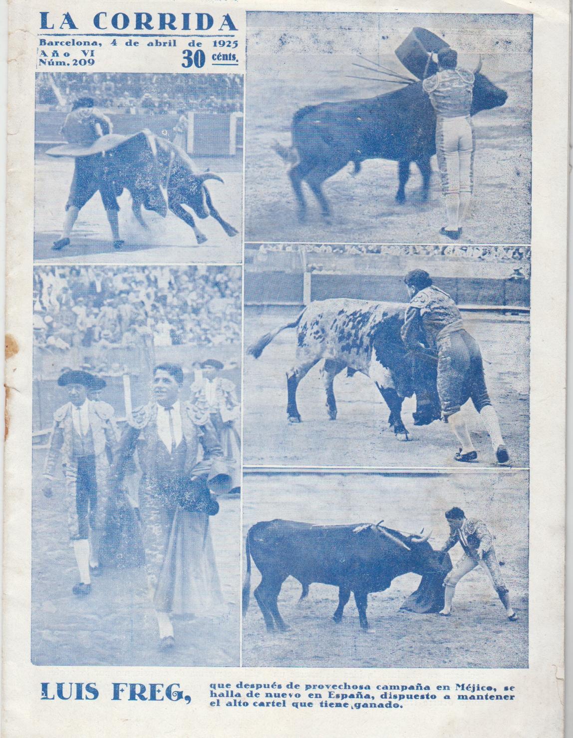 Image for La Corrido, Ano VI, Nom 209 (4 de Abril de 1925)