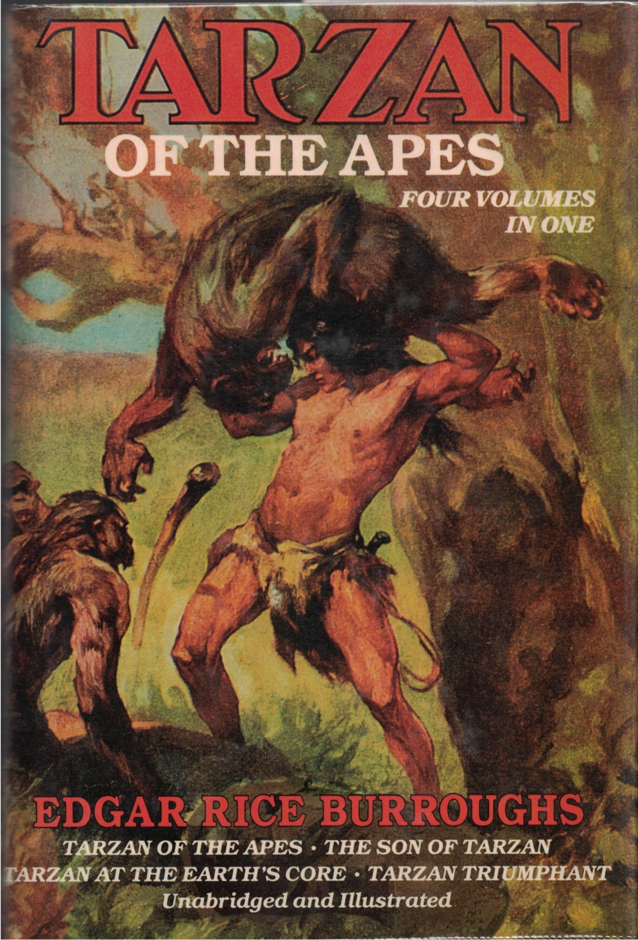 Image for Tarzan Of The Apes  Four Volumes In One