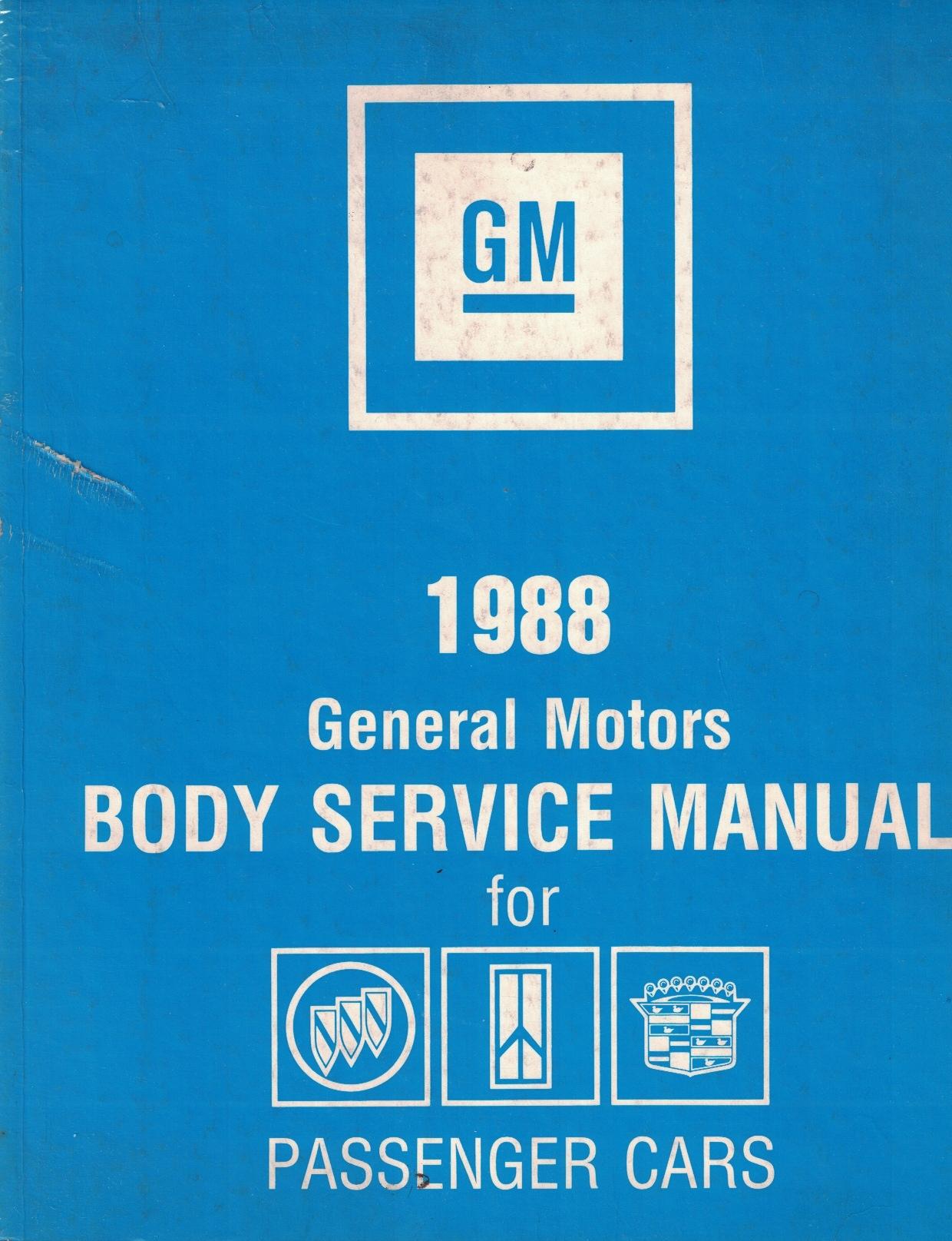 Image for 1988 General Motors Body Service Manual for Passenger Cars