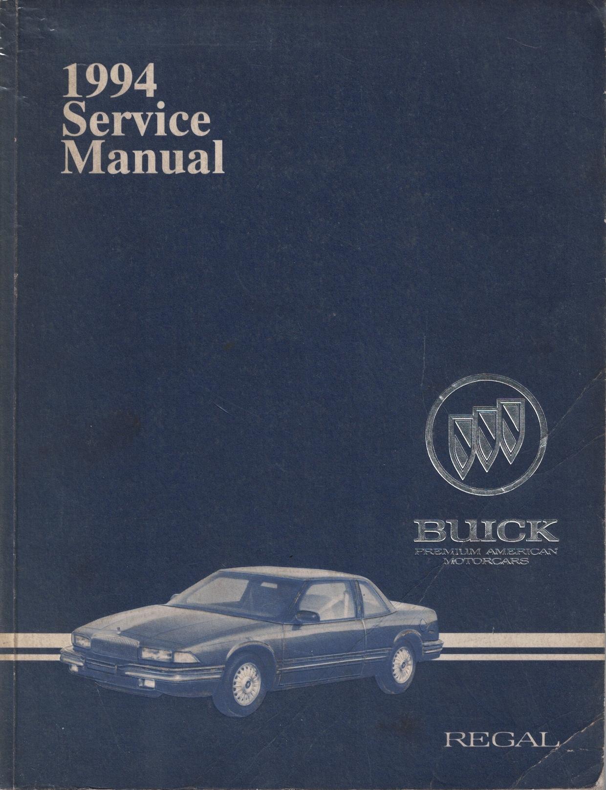 Image for 1994 Buick Regal Service Manual (2 volume set)