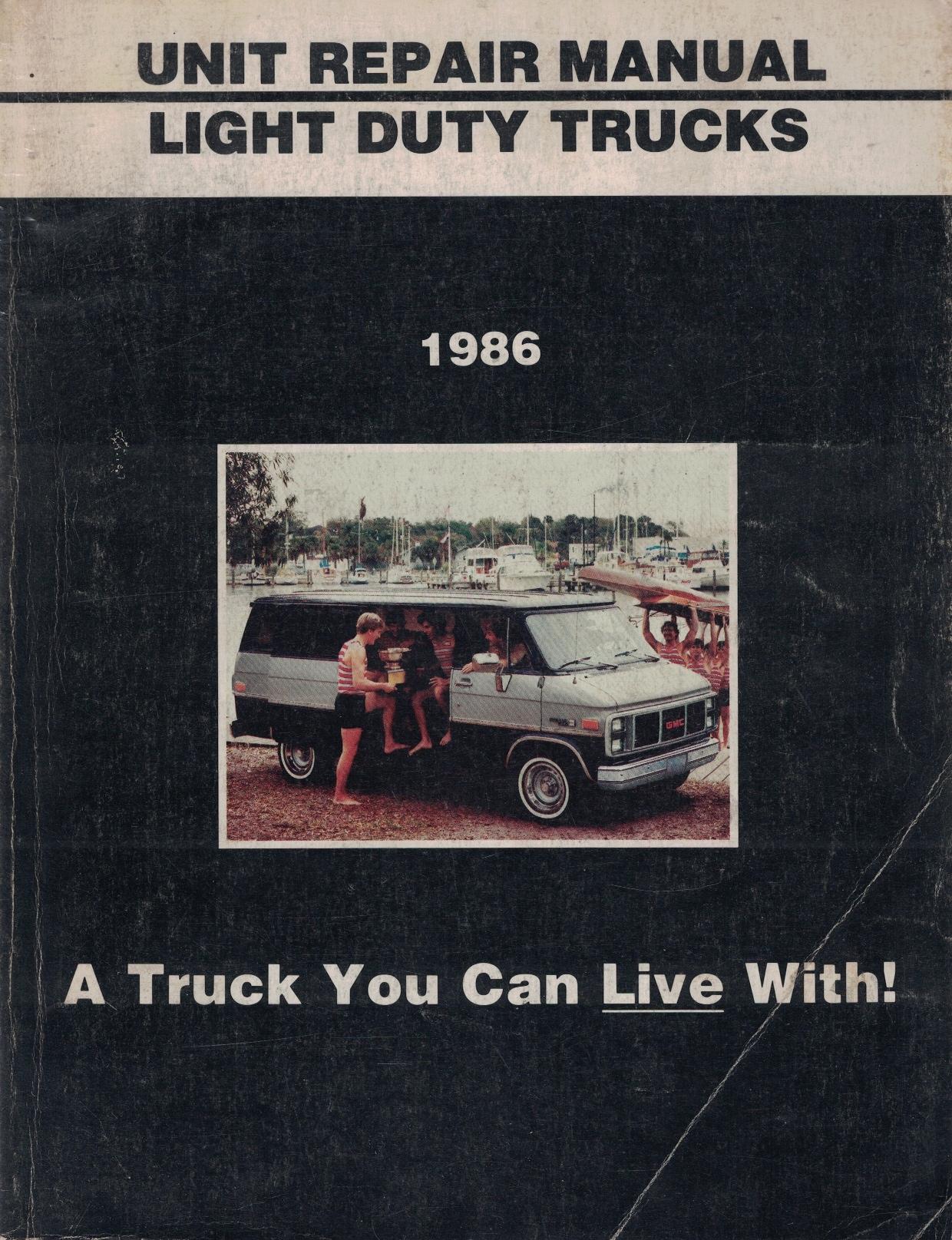 Image for 1986 GMC Light Duty Truck Unit Repair Manual [Original Service Manual]