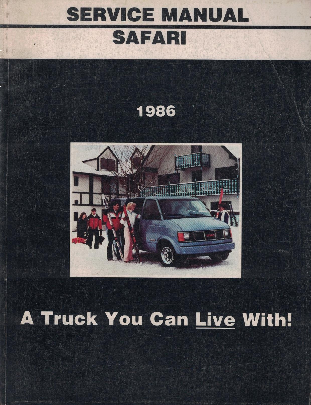 Image for 1986 GMC Light Duty Truck Service Manual: M-Van (Safari) Models [Original Service Manual]