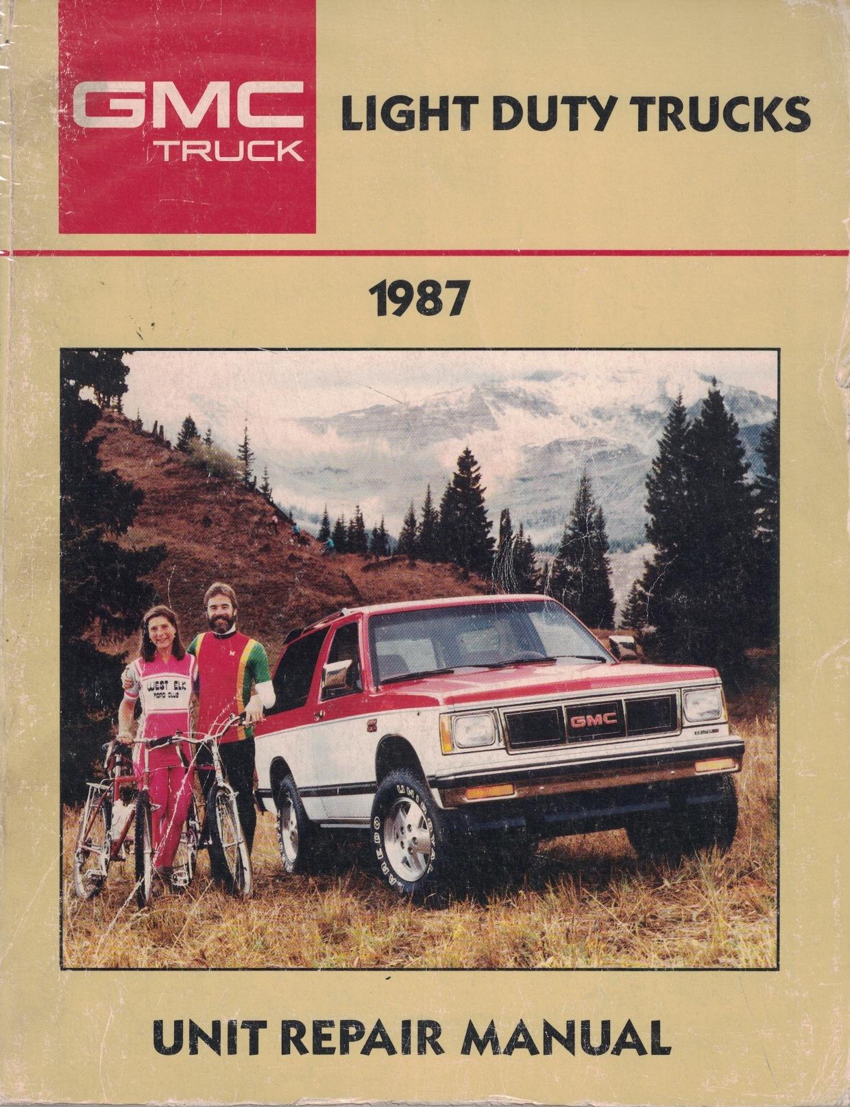 Image for 1987 Gmc Light Duty Truck Unit Repair Manual [original Service Manual]