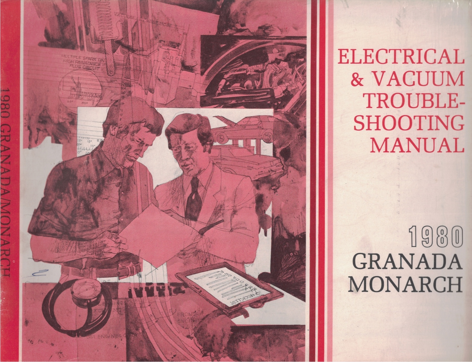 Image for 1980 Ford Granada, Mercury Monarch Electrical and Vacuum Troubleshooting Manual (EVTM)