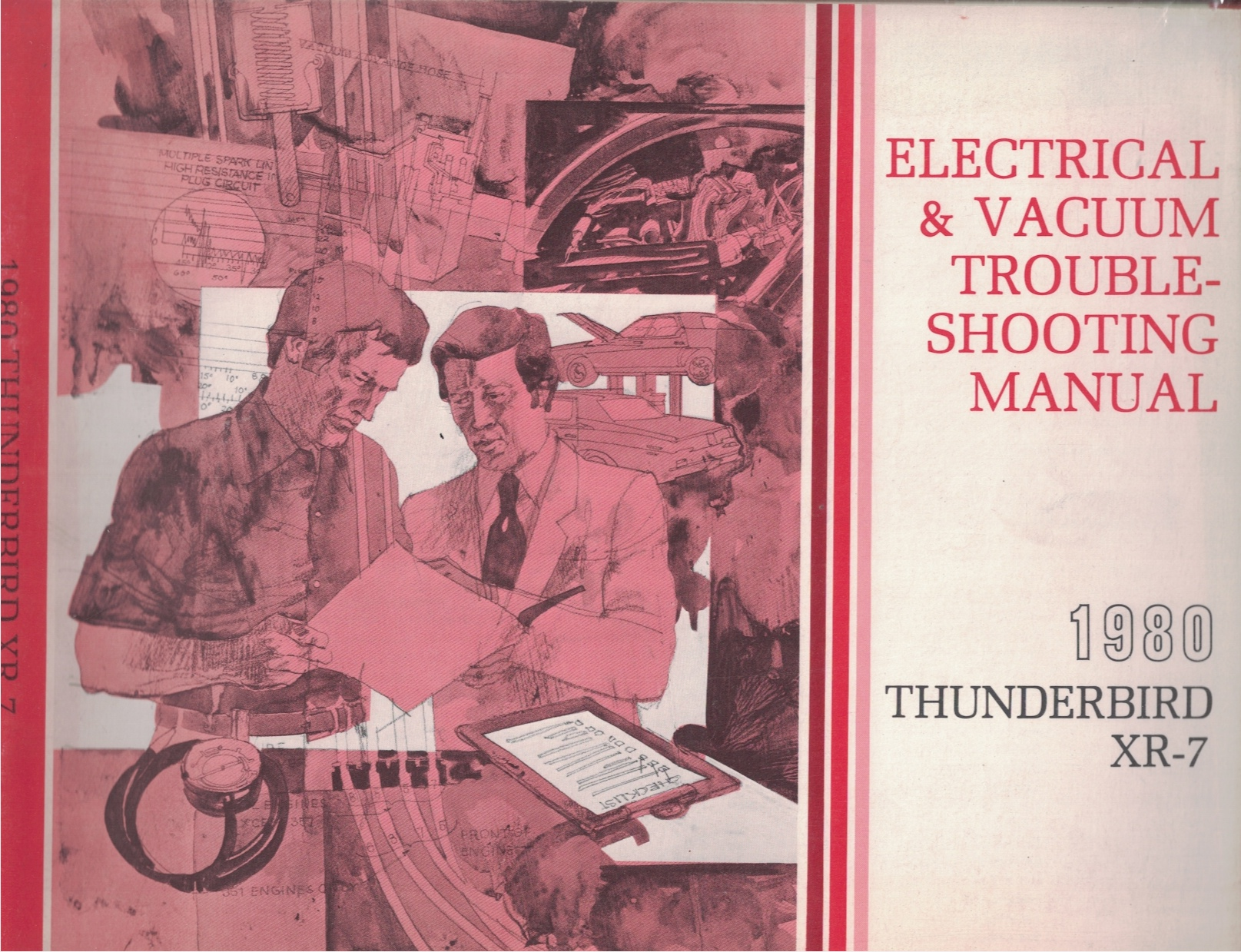 Image for 1980 Ford Thunderbird / XR-7 Electrical and Vacuum Troubleshooting Manual (EVTM)