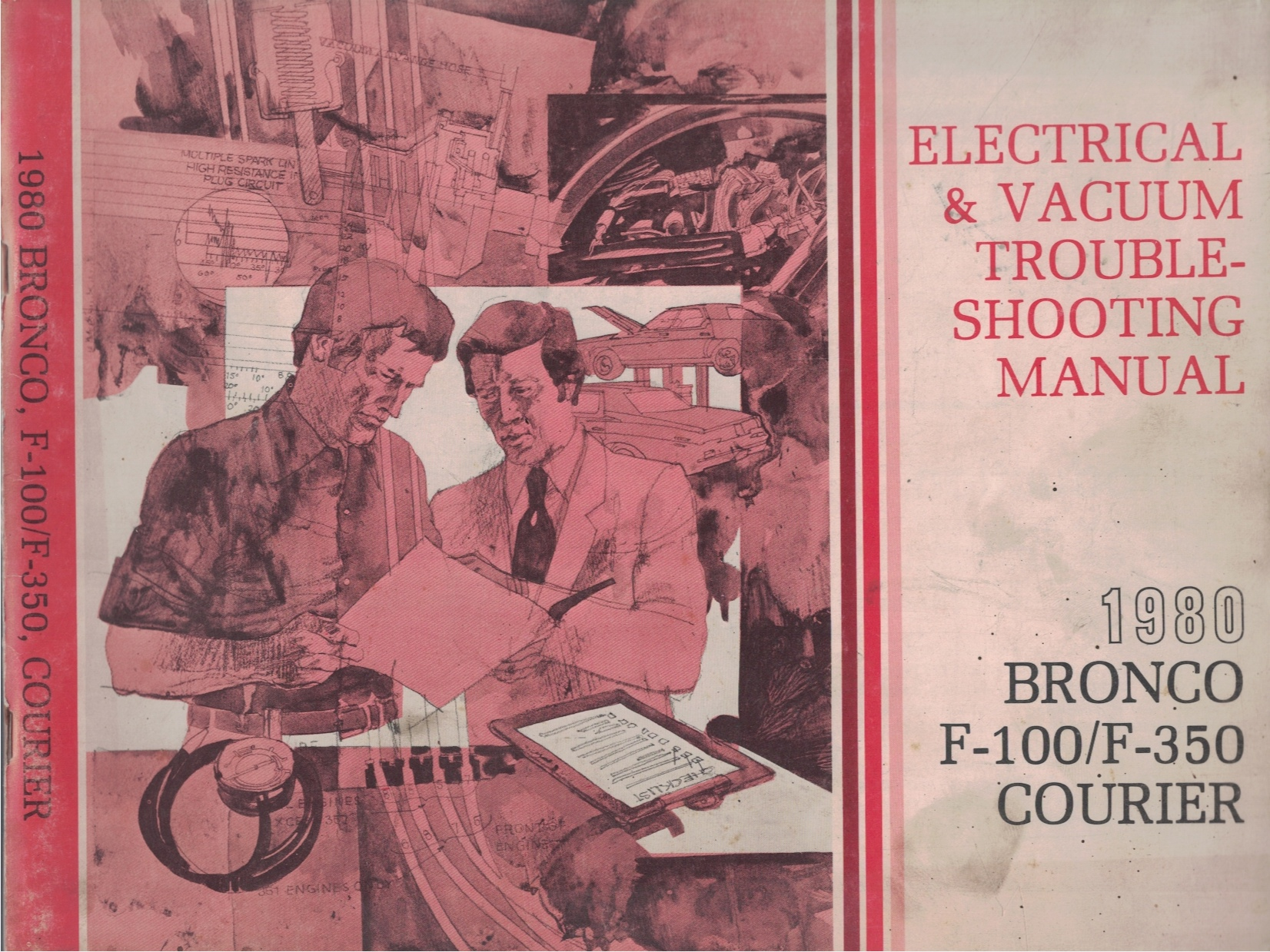 Image for 1980 Ford Bronco, F-100 / F-350, Courier Electrical and Vacuum Troubleshooting Manual (EVTM)