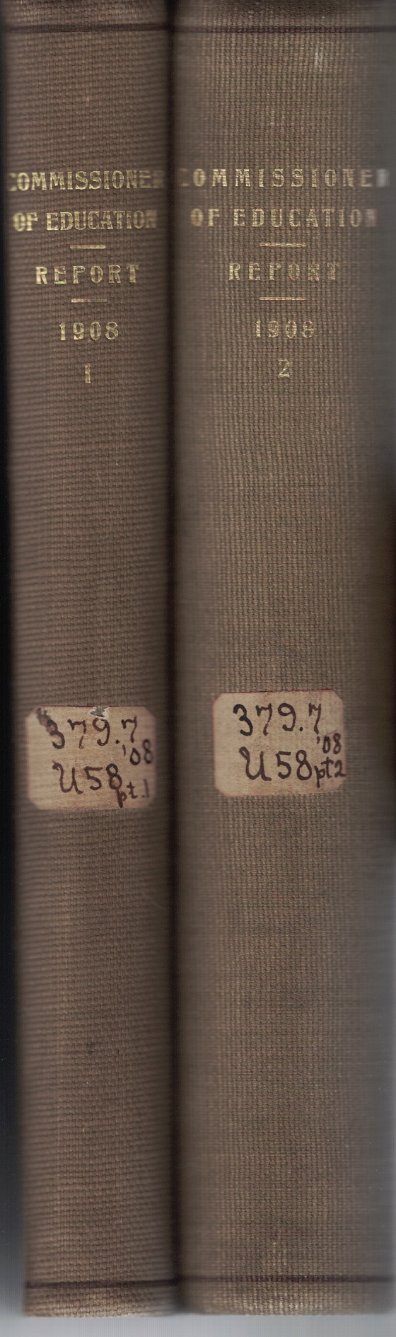 Image for Report of the Commissioner of Education for the Year Ended June 30, 1908 (2 Volume Set)