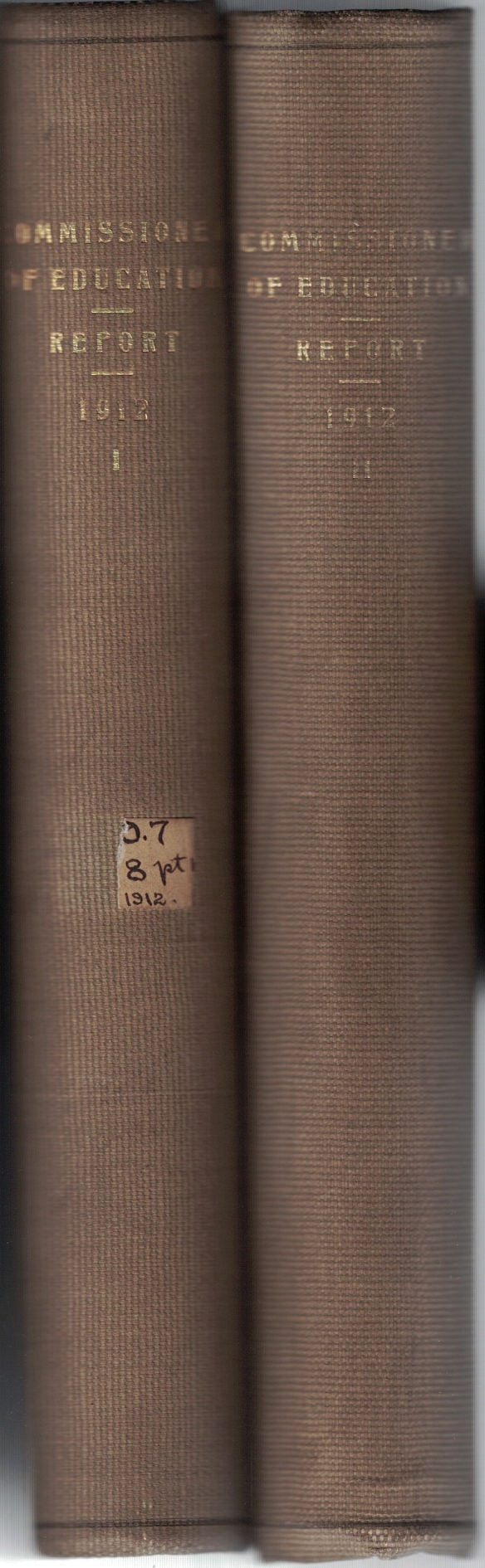 Image for Report of the Commissioner of Education for the Year Ended June 30, 1912 (2 Volume Set)