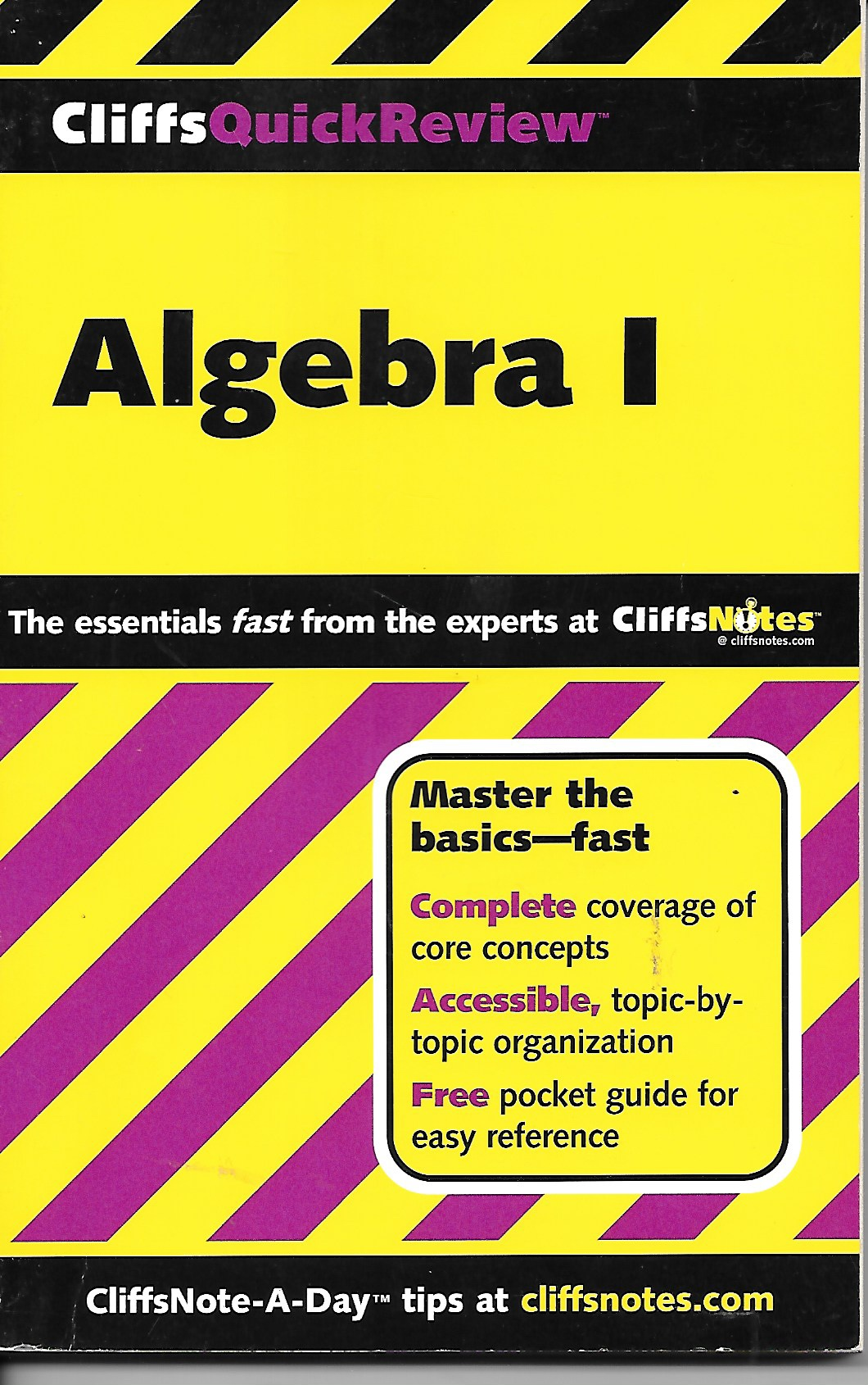 Image for Cliffs Quick Review Algebra I Master the Basic Fast