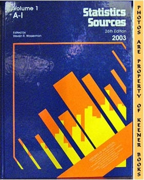Image for Statistics Sources : 26th Edition - 2003