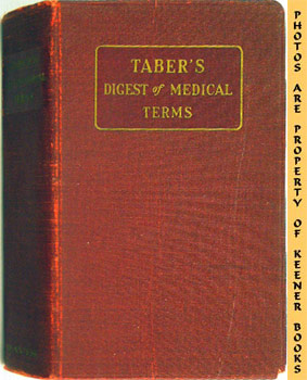 Image for Taber's Digest Of Medical Terms